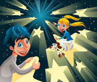 Voyage intergalactique sur les étoiles Photos libres de droits