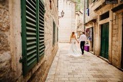 Voyage l'Europe de couples de lune de miel Photo stock