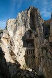 Voyage le long d'EL Camino Del Rey Images stock
