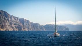 Voyage le long des criques de Marseille Photographie stock libre de droits