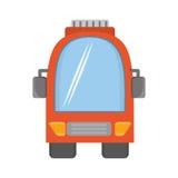 Voyage orange de transport terrestre de vehicule d'autobus Photographie stock
