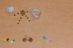 Voyage par concept de vélo Image stock