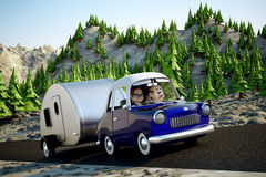 Voyage par la route illustration de vecteur