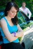 Voyage par la route - Aurguments Photo libre de droits