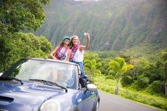 Voyage par la route d'Hawaï Photos libres de droits