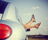 Voyage par la route dans la voiture Photographie stock libre de droits