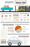 Voyage par la route Infographic illustration de vecteur