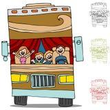 Voyage par la route rv illustration libre de droits