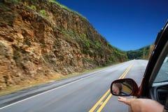 Voyage par la route sur le véhicule Images libres de droits