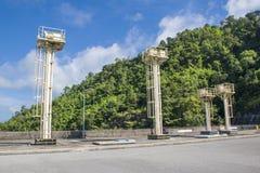 Voyage par le barrage Watergate photo libre de droits
