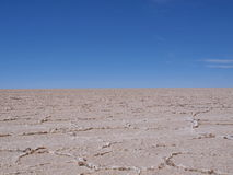 Voyage plat Bolivie de désert de Solt Photographie stock