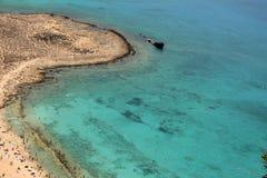 Voyage pour pirater l'île Gramvoussa Crète, Grèce photographie stock libre de droits