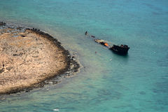 Voyage pour pirater l'île Gramvoussa Crète, Grèce image stock
