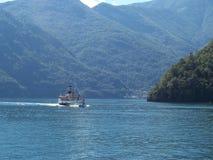 Voyage rêveur Como de bateau de célébrité Photo libre de droits