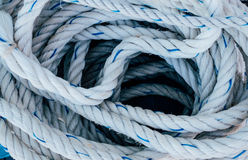 Voyage. Rope for mooring a vessel Royalty Free Stock Image