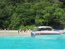 Voyage sur la plage Images libres de droits