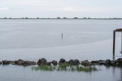 Voyage sur le pays du fleuve Pô de del de delta Images libres de droits