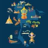 Voyage Thaïlande illustration stock