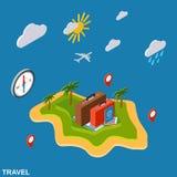 Voyage, tourisme, concept de vecteur de vacances Photo libre de droits