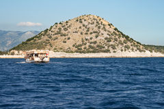 Voyage trip in the Mediterranean sea Royalty Free Stock Images