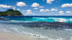 Voyage tropical de paysage marin d'île image libre de droits