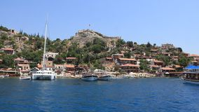 Voyage. Turkey, Kekova-Simena Region, Apollonia, Western Taurus stock video footage