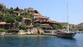 Voyage. Turkey, Kekova-Simena Region, Apollonia, Western Taurus stock video