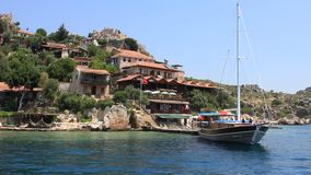 Voyage. Turkey, Kekova-Simena Region, Western Taurus stock video