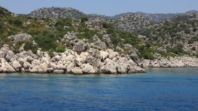 Voyage. Turkey, Kekova-Simena Region, Western Taurus stock video footage
