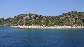 Voyage. Turkey, Kemer, Kekova-Simena Region, Western Taurus stock video footage
