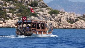 Voyage. Turkey, Kemer, Kekova-Simena Region, Western Taurus stock video