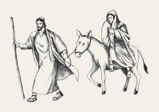 Voyage vers Bethlehem illustration de vecteur