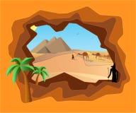 Voyage vers l'Egypte antique illustration libre de droits