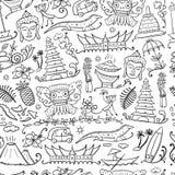 Voyage vers l'Indonésie Configuration sans joint pour votre conception illustration libre de droits