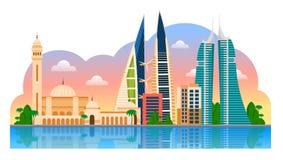 Voyage vers le Bahrain manama illustration libre de droits