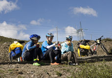 Voyage vers le Thibet en le vélo Photo libre de droits
