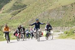 Voyage vers le Thibet en le vélo Image stock