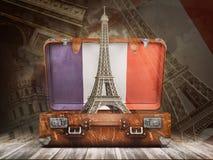 Voyage vers Paris Voyage ou tourisme au concept de Frances Tour Eiffel Photo stock