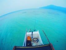 Voyage vers une île Image libre de droits