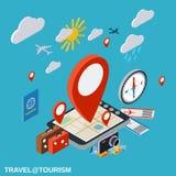 Voyage, voyageant, destination, concept de vecteur de vacances Photos stock