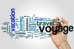 Voyage word cloud Stock Photo