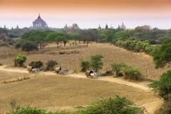 Voyageant dans Bagan, Myanmar Photo libre de droits