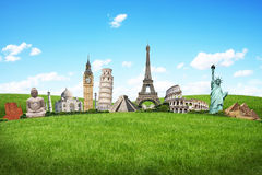Voyagent le concept de monuments du monde Photos stock
