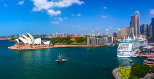 `Voyager of the Seas` giant luxury cruise in Sydney. SYDNEY, AUSTRALIA - 05 MARCH 2015: `Voyager of the Seas` giant luxury cruise ship was docked in the Sydney Royalty Free Stock Image