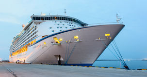Voyager of the Seas luxury cruise ship was docked in the port of Jeju, South Korea. Over 3,700 passengers came to visit Jeju Stock Photography
