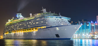 Voyager of the Seas stayed overnight in the port of Keelung, Taiwan. Over 3,500 passengers came to visit Exotic Island Royalty Free Stock Photography