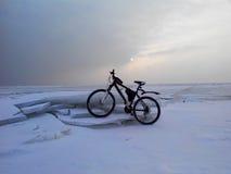 Voyages de bateau d'hiver Photo libre de droits
