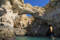 Voyages de bateau dans l'Algarve Photo libre de droits
