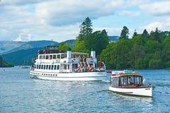 Voyages de bateau sur le lac Windermere Image stock