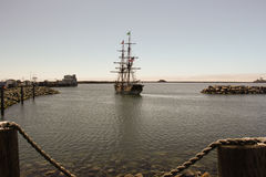 Voyages of Discovery - Tall Ships. Experiential educational experiences offered along the Pacific Coast for children K-12 and Home School Groups.  Experience Royalty Free Stock Images